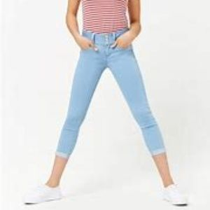 Cropped Skinny Push-Up Jeans